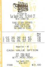 Lotto winner for USA Mega Millions