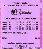 Lotto winner for Australia Oz Lotto