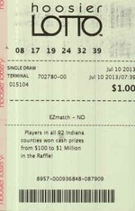 Lotto winner for Hoosier Lotto