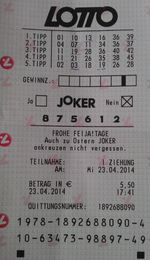 Lotto winner for Austria Lotto