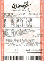 Winning Mexico Chispazo ticket