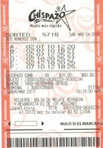 Mexico Chispazo jackpot winning ticket