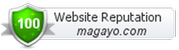 Website reputation of magayo.com is rated 100/100 by Webutation